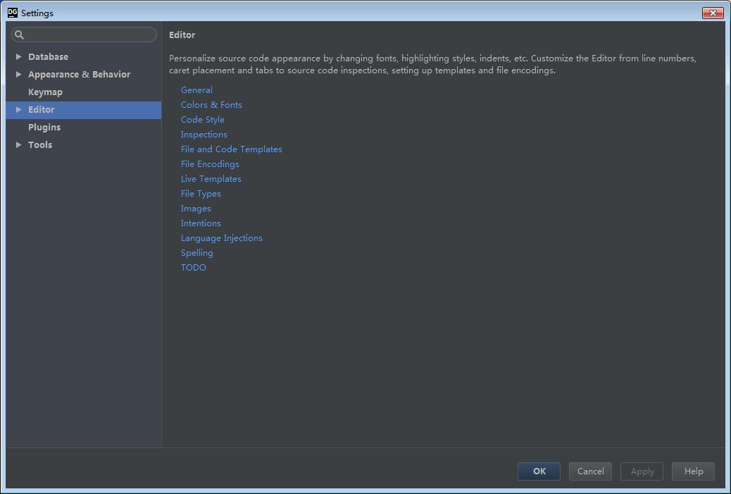 Idea DataGrip使用入门-常用设置(二)
