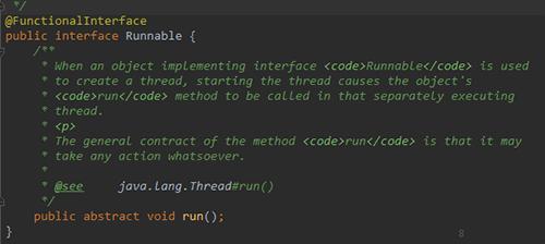 JDK8新特性:函数式接口@FunctionalInterface的使用说明
