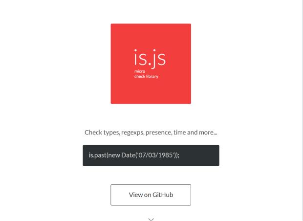 Is.js为检查数据提供简单的方法