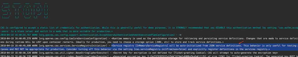 Cas 5.2.x版本使用 —— Service配置介绍(十一)