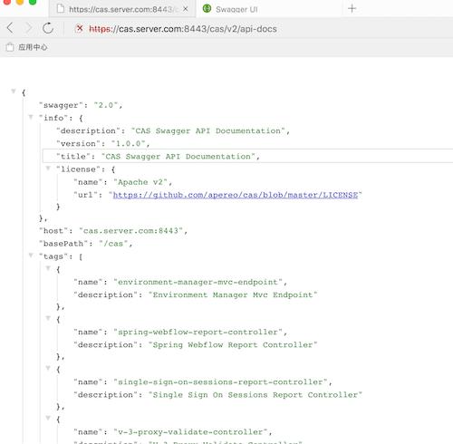 Cas 5.2.x版本使用 —— 配置 Swagger API 集成(十九)