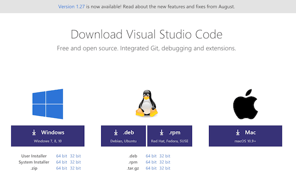 Visual Studio Code 快速入门(一)
