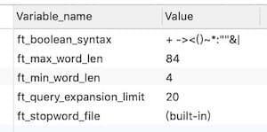 MySQL 全文索引 FULLTEXT 使用