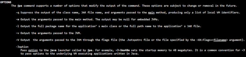 jvm 指令工具 jps 命令(Java虚拟机进程状态工具)