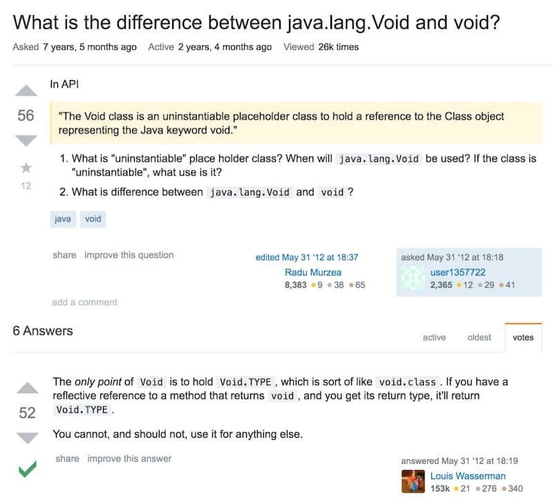 Java中java.lang.Void和void有什么区别?